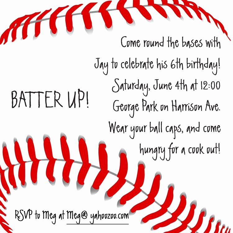 Baseball Invitation Birthday by Cardsdirect