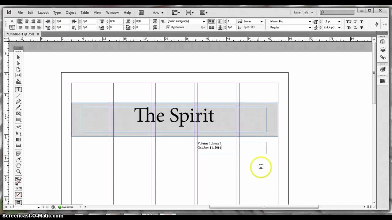 Basic Adobe Indesign Newspaper Template