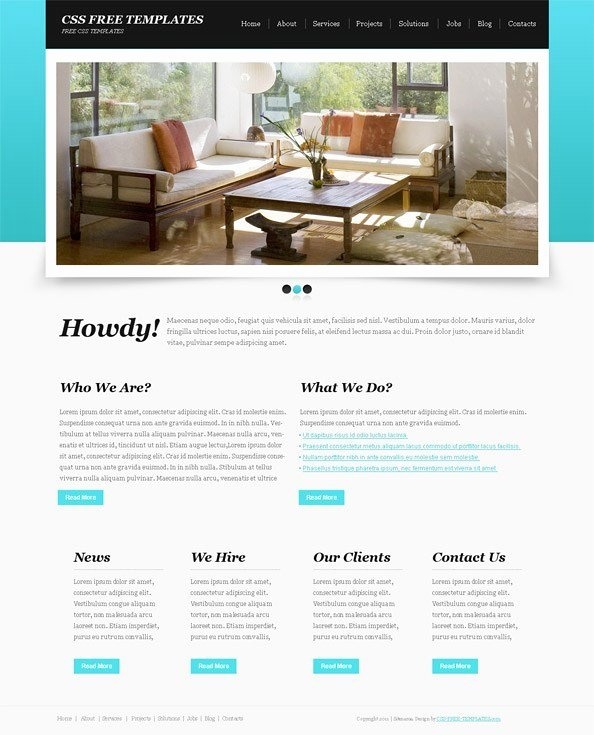 Basic Blue Website Css Template with Great Jquery Slider