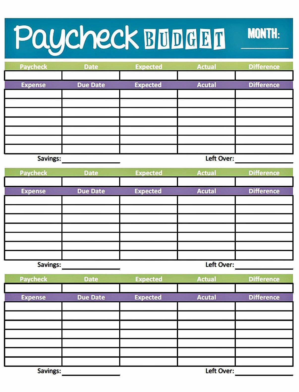 Basic Bud Planner Worksheet Free Simple Bud