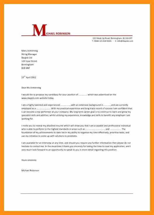 basic cover letter for any job