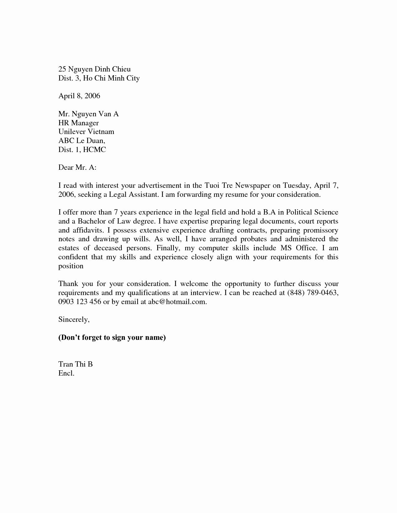 Basic Cover Letter for Resume Examples