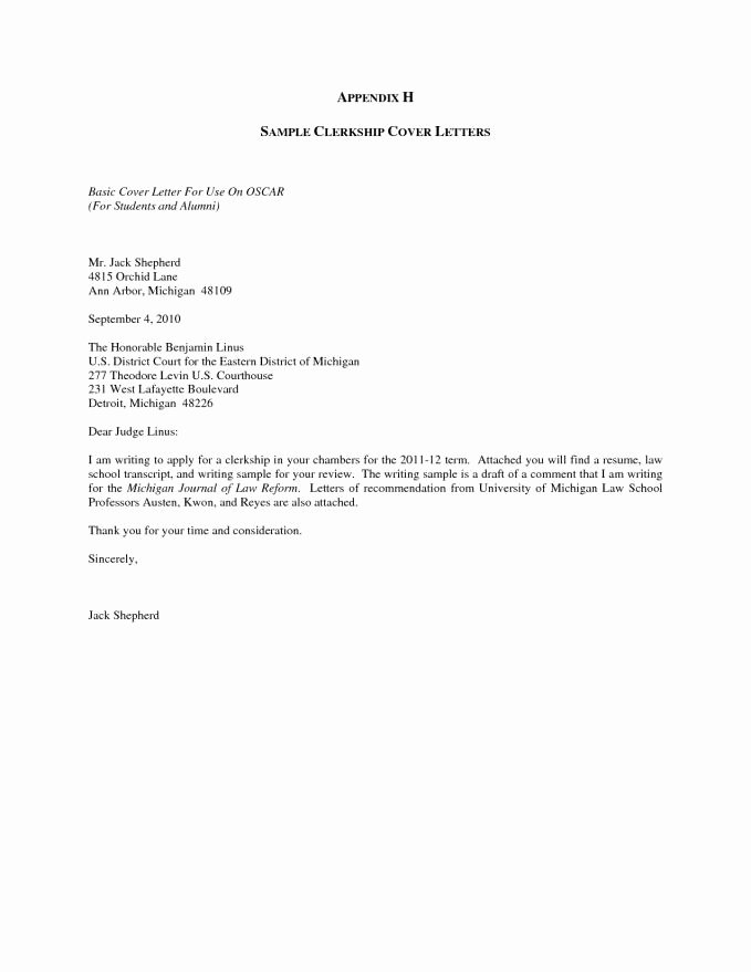 Basic Cover Letter Template