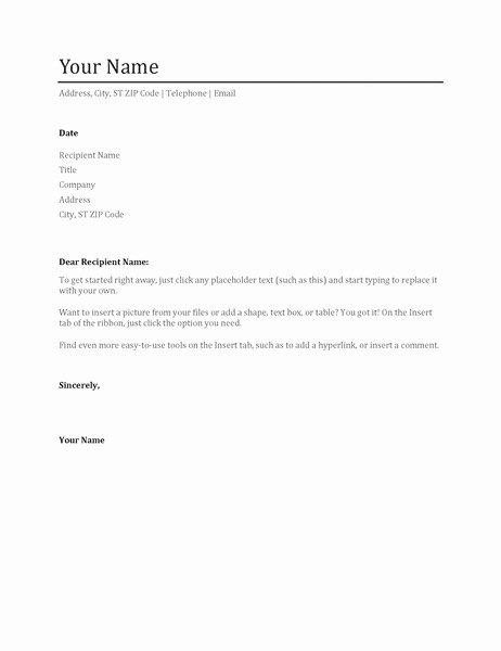 Basic Cover Letter Template Word Ksdharshan