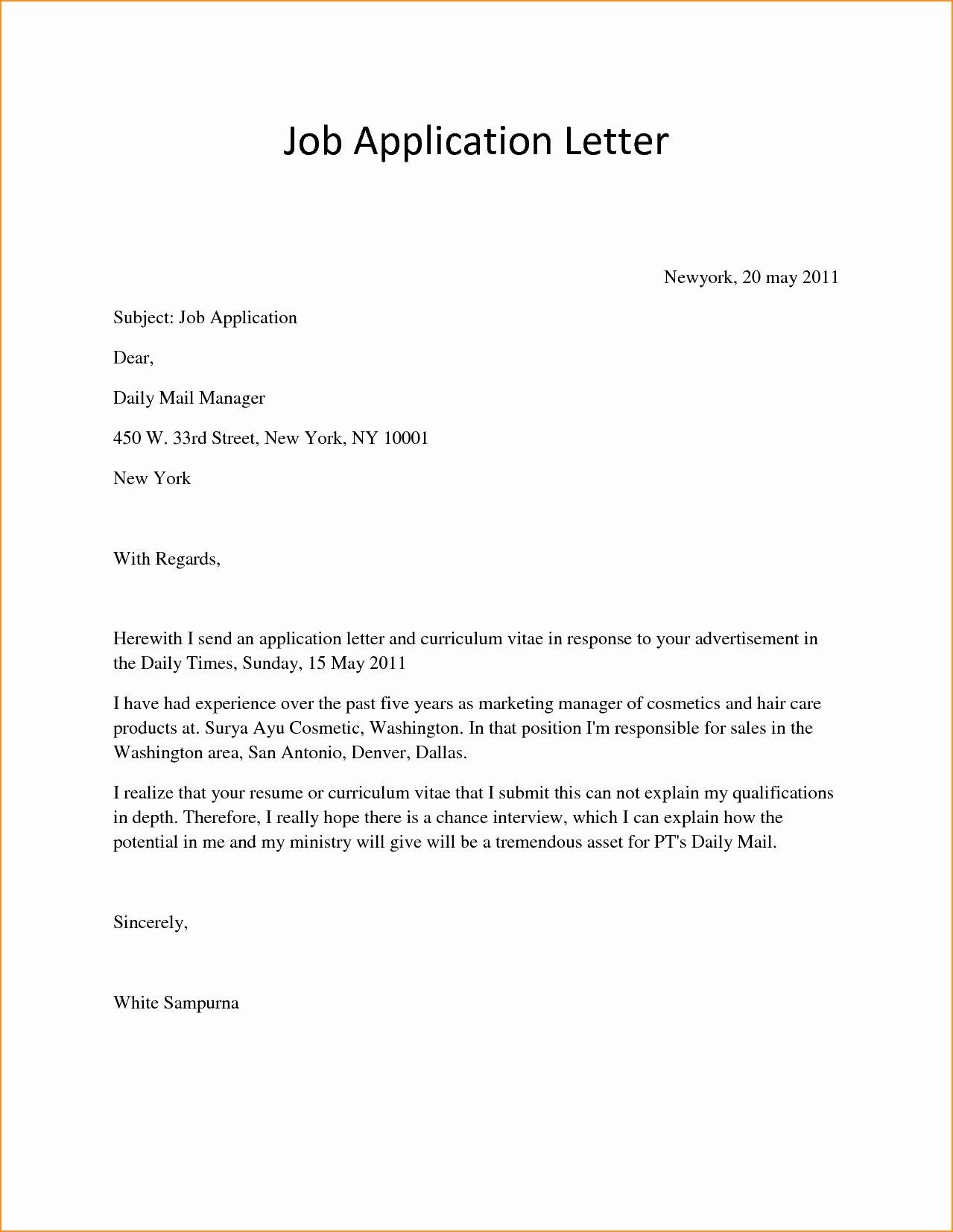 Basic Covering Letter Example Cover Letter Models for Job