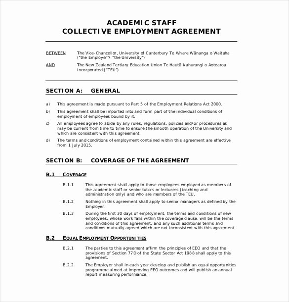 Basic Employment Contract Template Free Templates