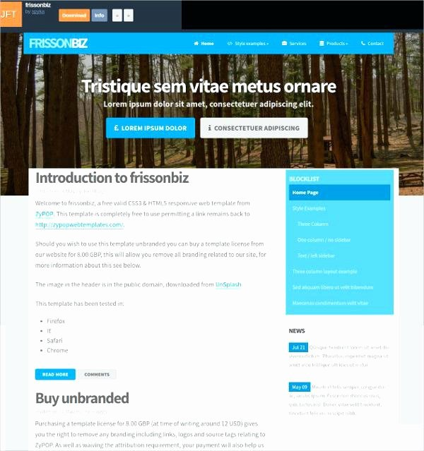 Basic HTML Web Page Template Free Simple HTML Responsive