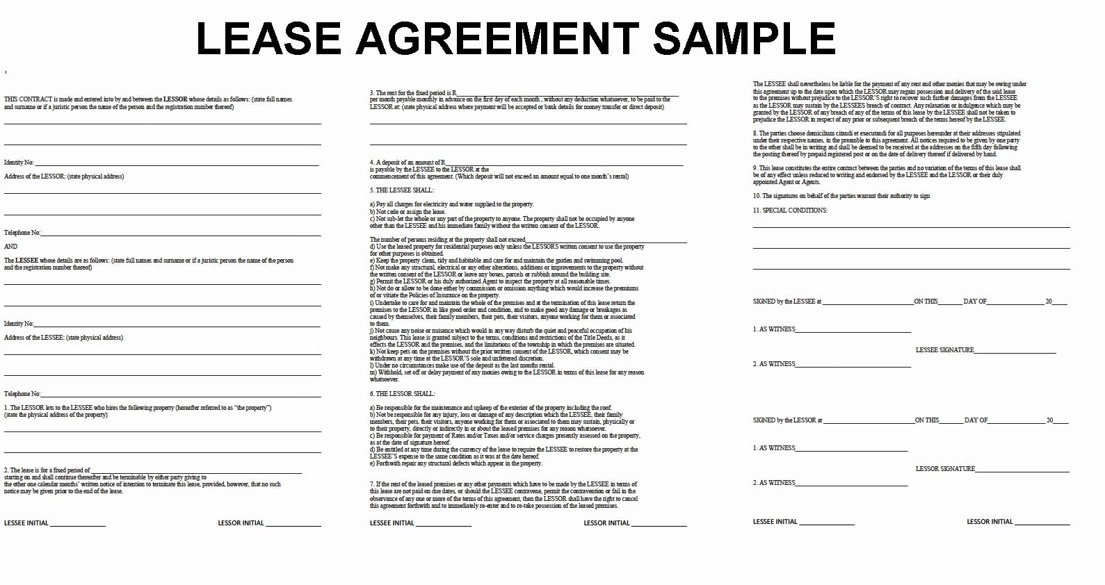 Basic Lease Agreement Template Filename