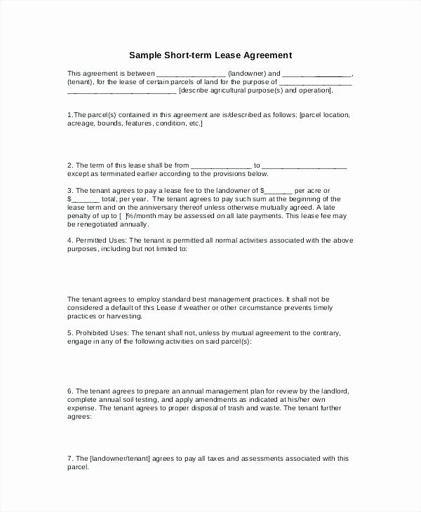 Basic Lease Agreement Template Free Templates Resume
