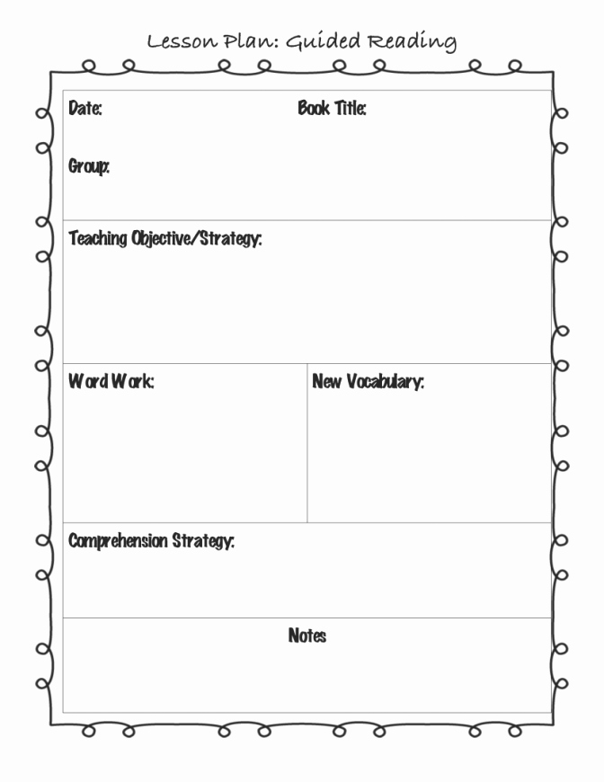 Basic Lesson Plan Template Word Templates Station