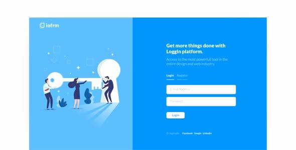 Basic Login form Template Free HTML Luxury Login Template