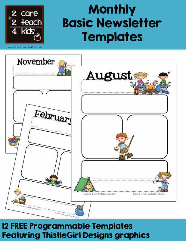 Basic Newsletters Free Printable Templates