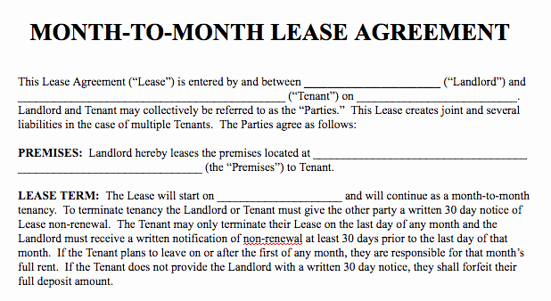 Basic Rental Agreement In A Word Document for Free