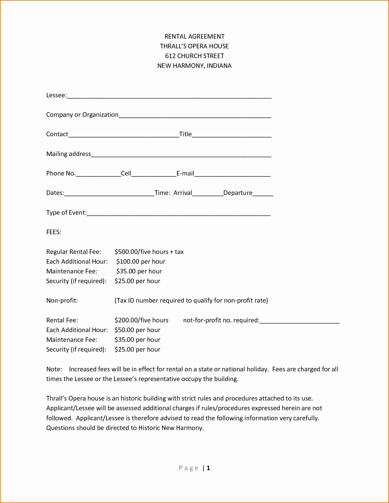 Basic Rental Agreement Template Filename