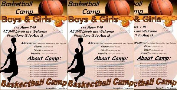 Basketball Camp Brochure Template 25 Basketball Flyers