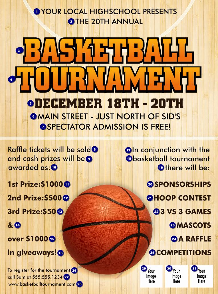 Basketball Court Flyer