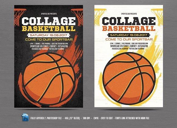 Basketball Flyer Template Flyer Templates Creative Market