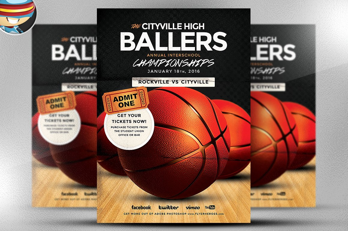 Basketball Flyer Template Flyer Templates On Creative Market