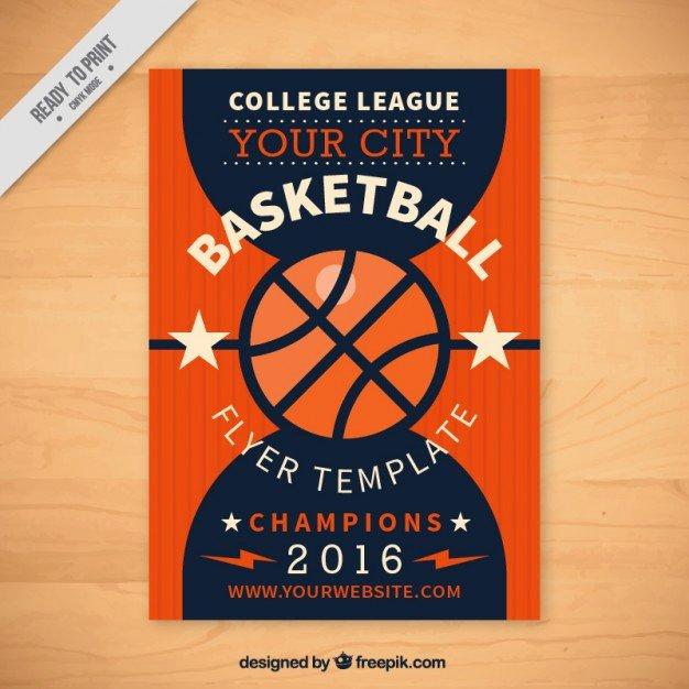 Basketball Flyer Template Vector