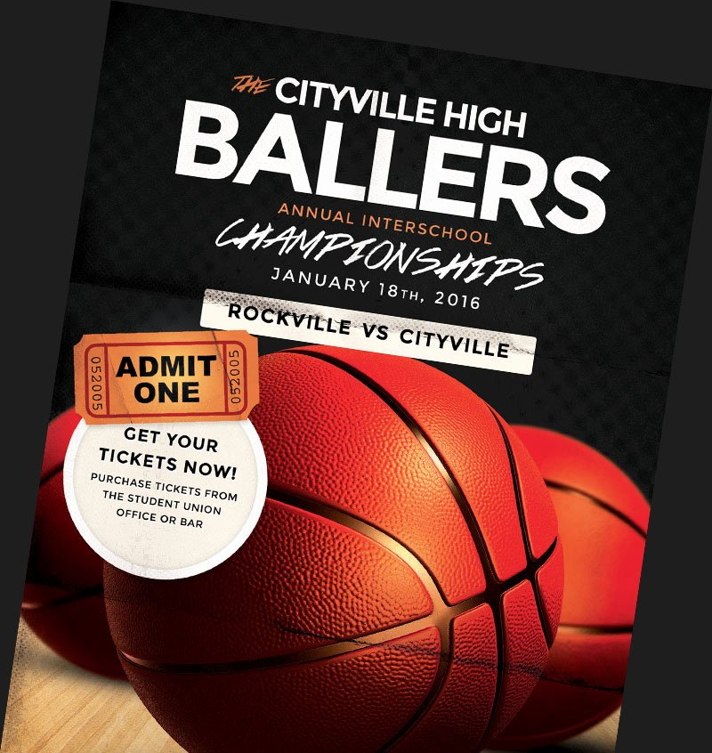 Basketball Flyer Templates for Basketball event Promotions