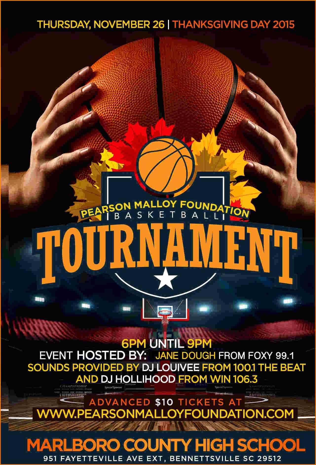 Basketball tournament Fly Electrifying Print Ready