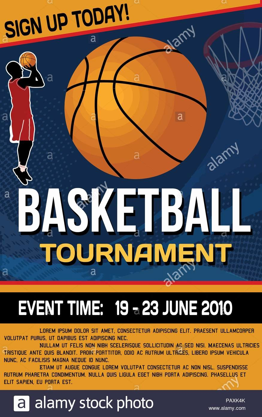 Basketball tournament Flyer or Poster Background Vector