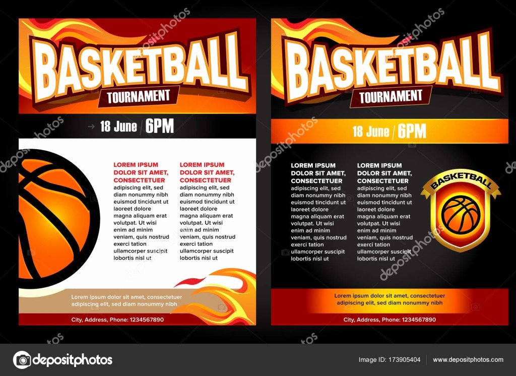 Basketball tournament Posters Flyer with Basketball Ball