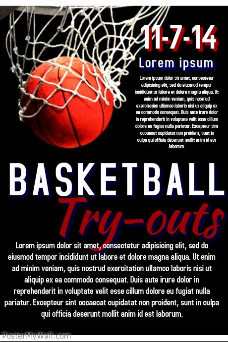 Basketball Try Out Template