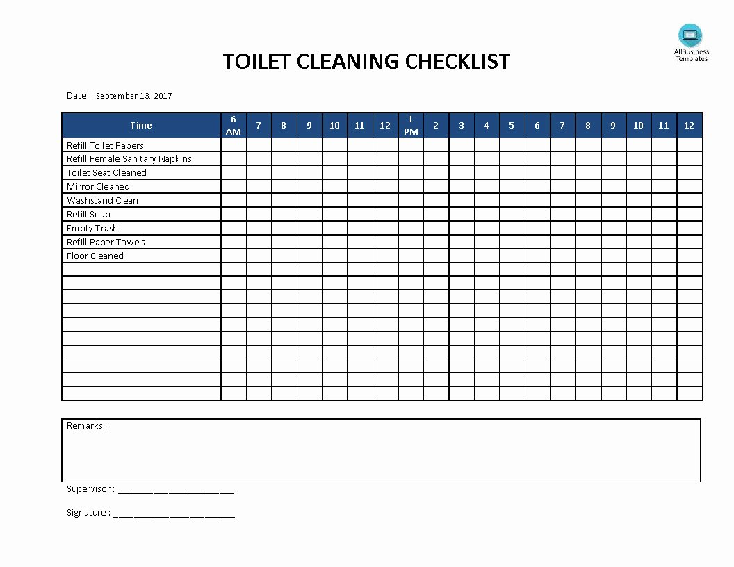 Bathroom Cleaning Checklist Talentneeds