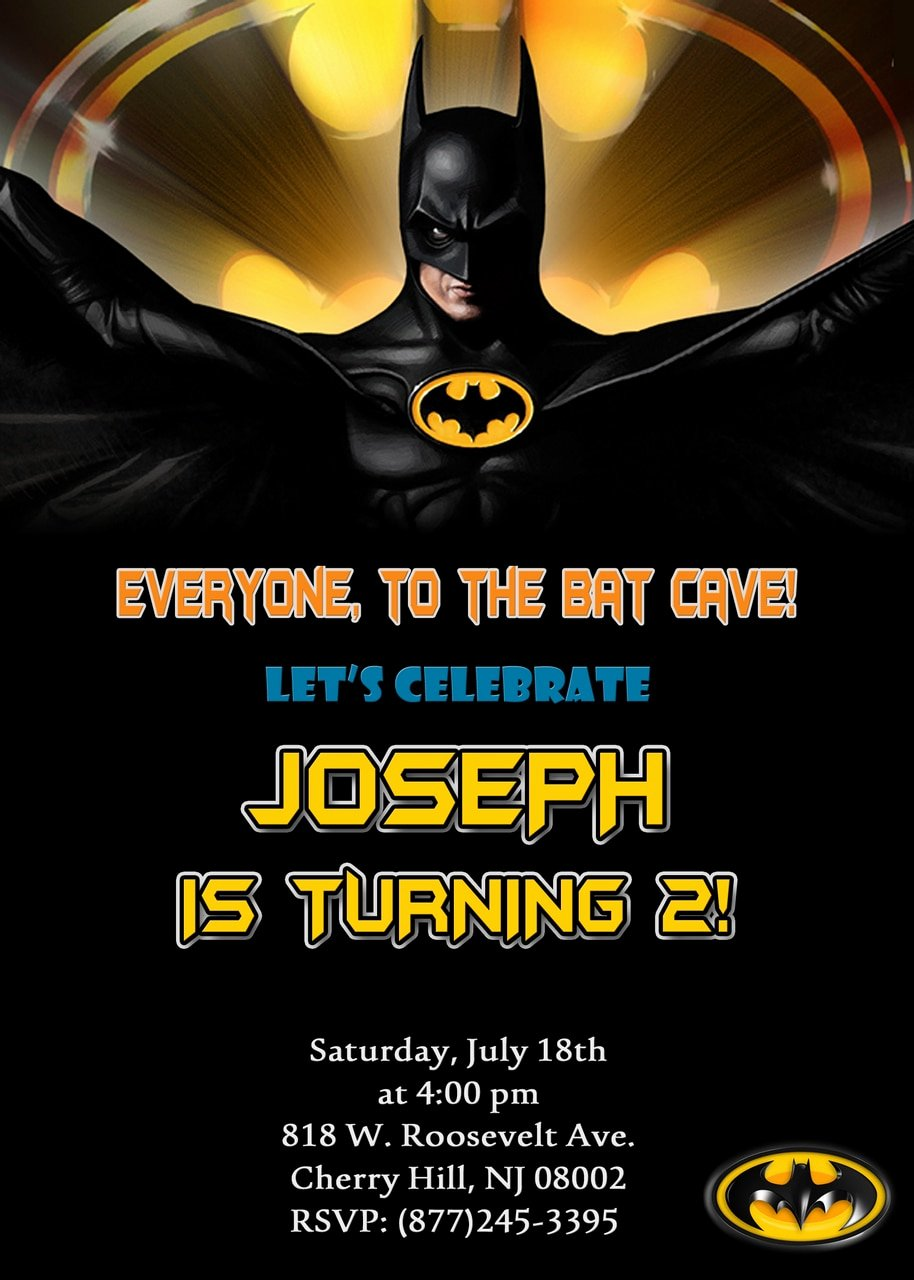 Batman Birthday Invitations Partyexpressinvitations