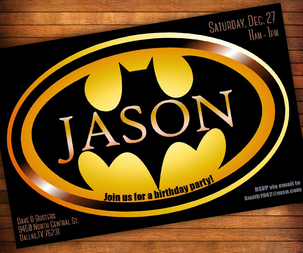Batman Birthday Invitations Templates Ideas Batman and