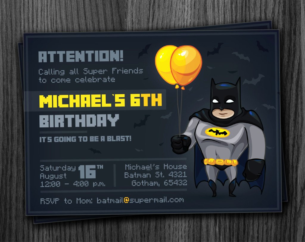 Batman Party Invitation Printable Download
