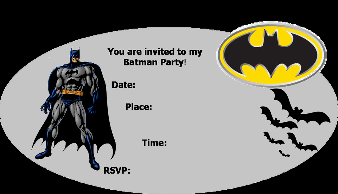 Batman Party Invitations Template