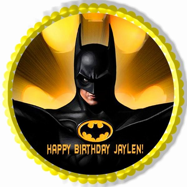 Batman Yellow Edible Cake and Cupcake toppers – Edible