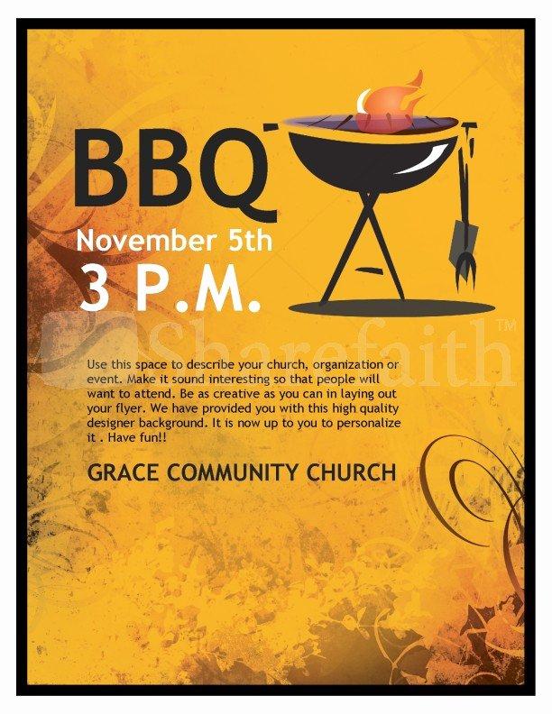 Bbq Church Flyer
