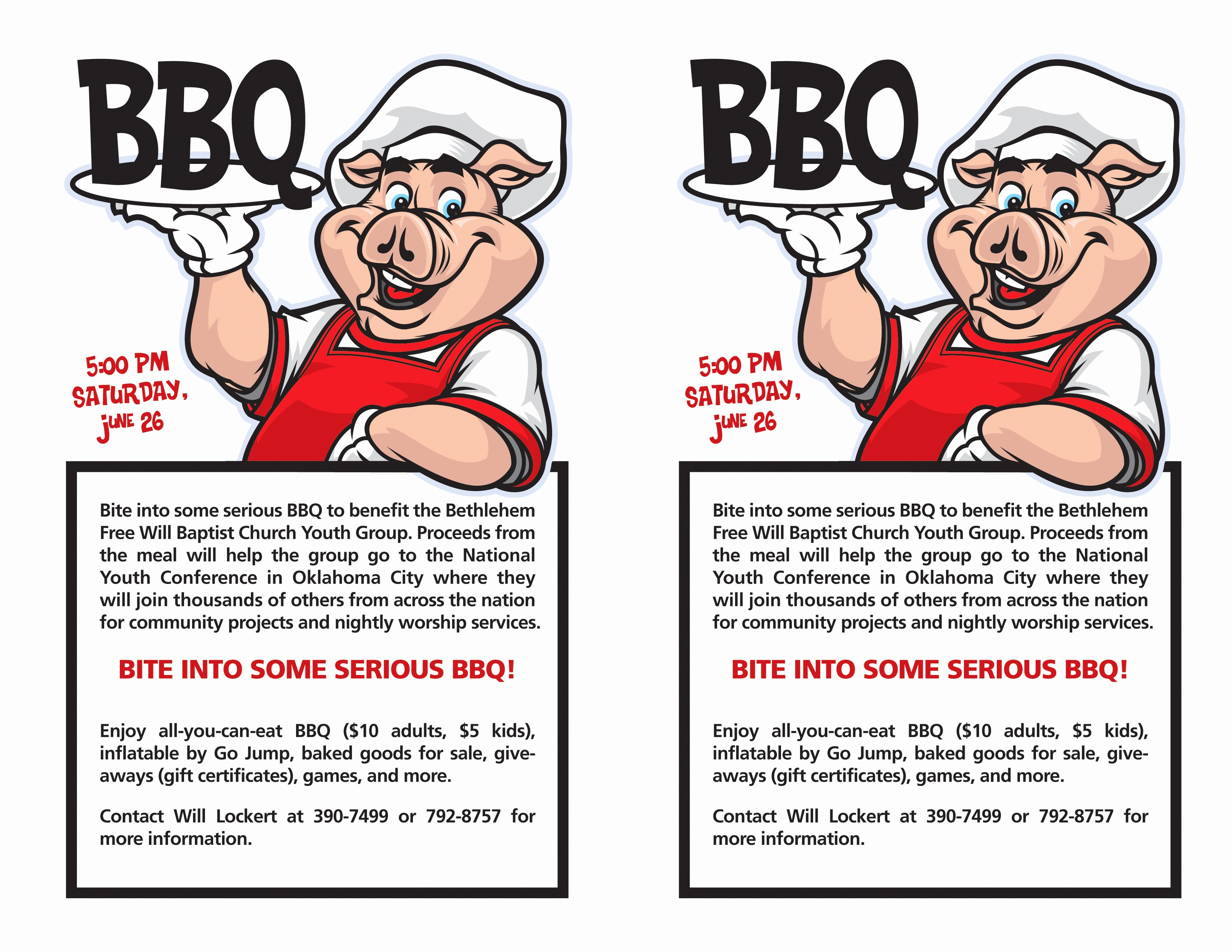 Bbq Fundraiser Flyer Template Bing Images