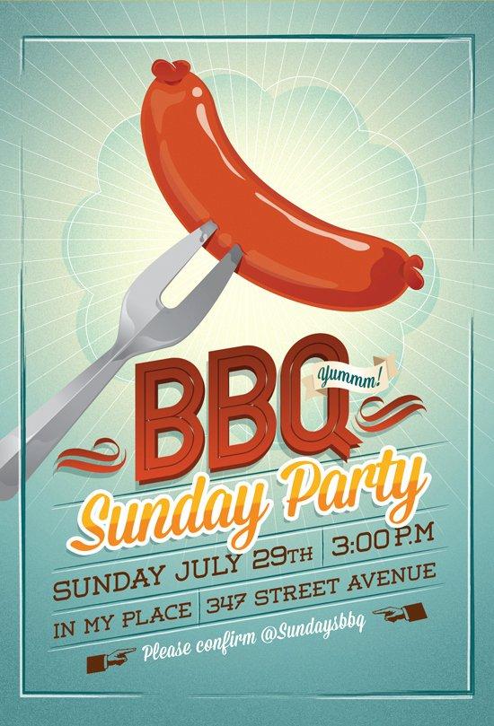 Bbq Party Flyer Invitation by Hitomodachi On Deviantart