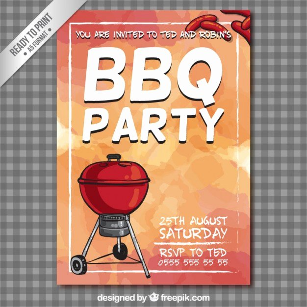 Bbq Party Flyer Vector