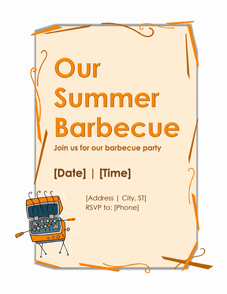 Bbq Party Invitation Template – Microsoft Word Templates