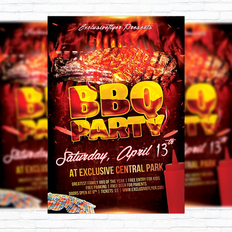 Bbq Party – Premium Flyer Template Cover
