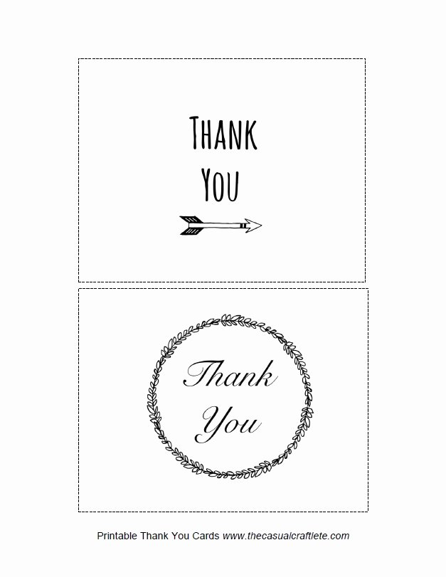 Be My Guest Printable Thank You Cards by the Casual