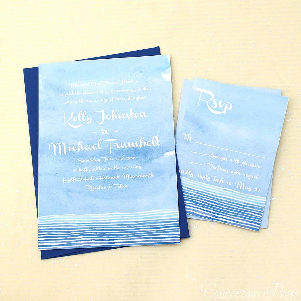 Beach Wedding Invitation Templates