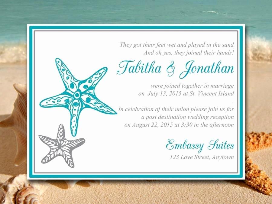 "Beach Wedding Reception Invitation Template ""blissful"