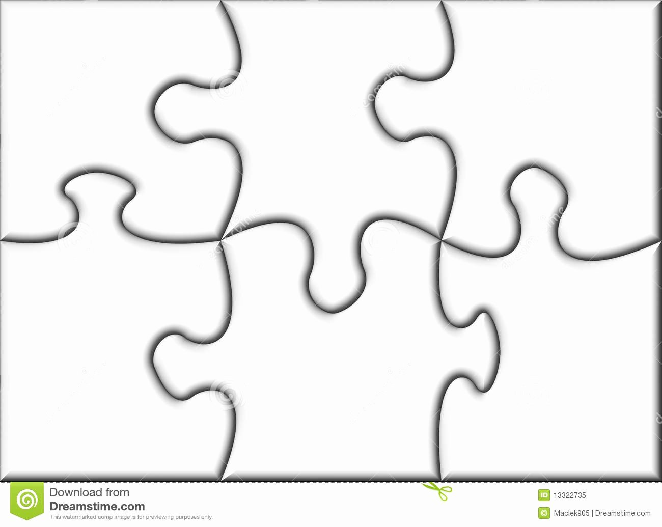 Beautiful Blank Transparent Jigsaw Puzzle Stock