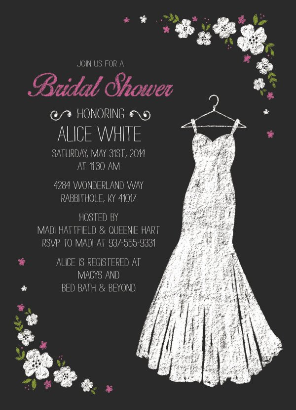 Beautiful Bridal Shower Invitations Templates Free