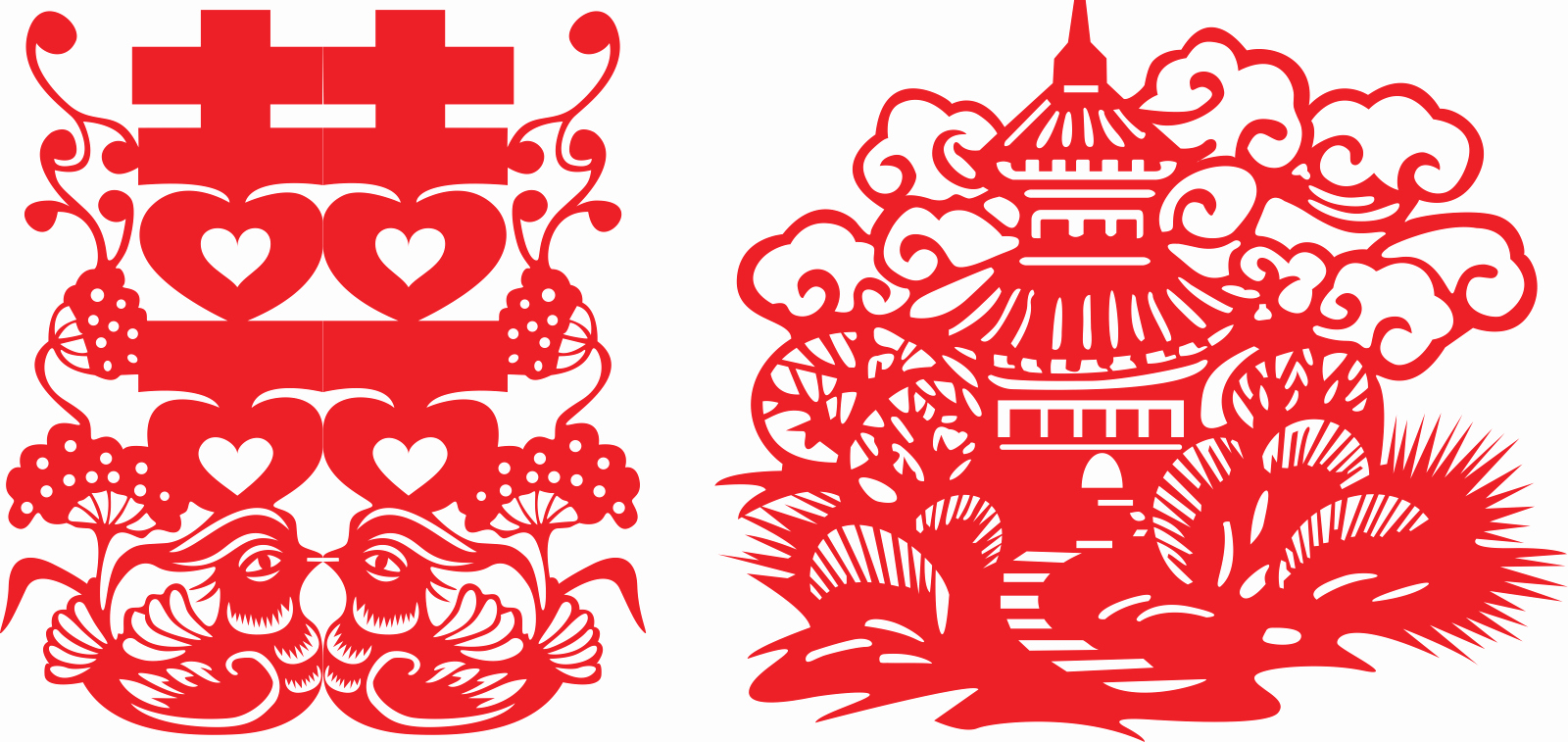 Beautiful Chinese Traditional Wedding Paper Cutting Art