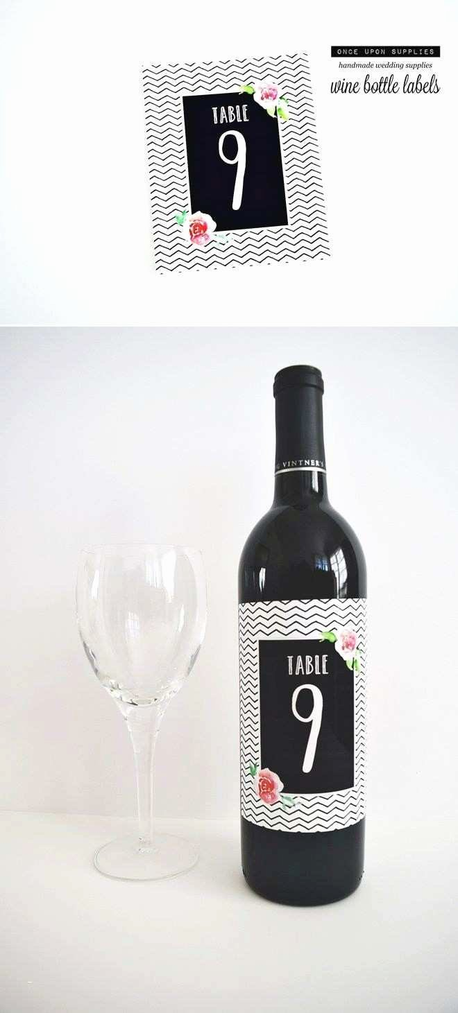 Beautiful Free Wine Label Template for Wedding