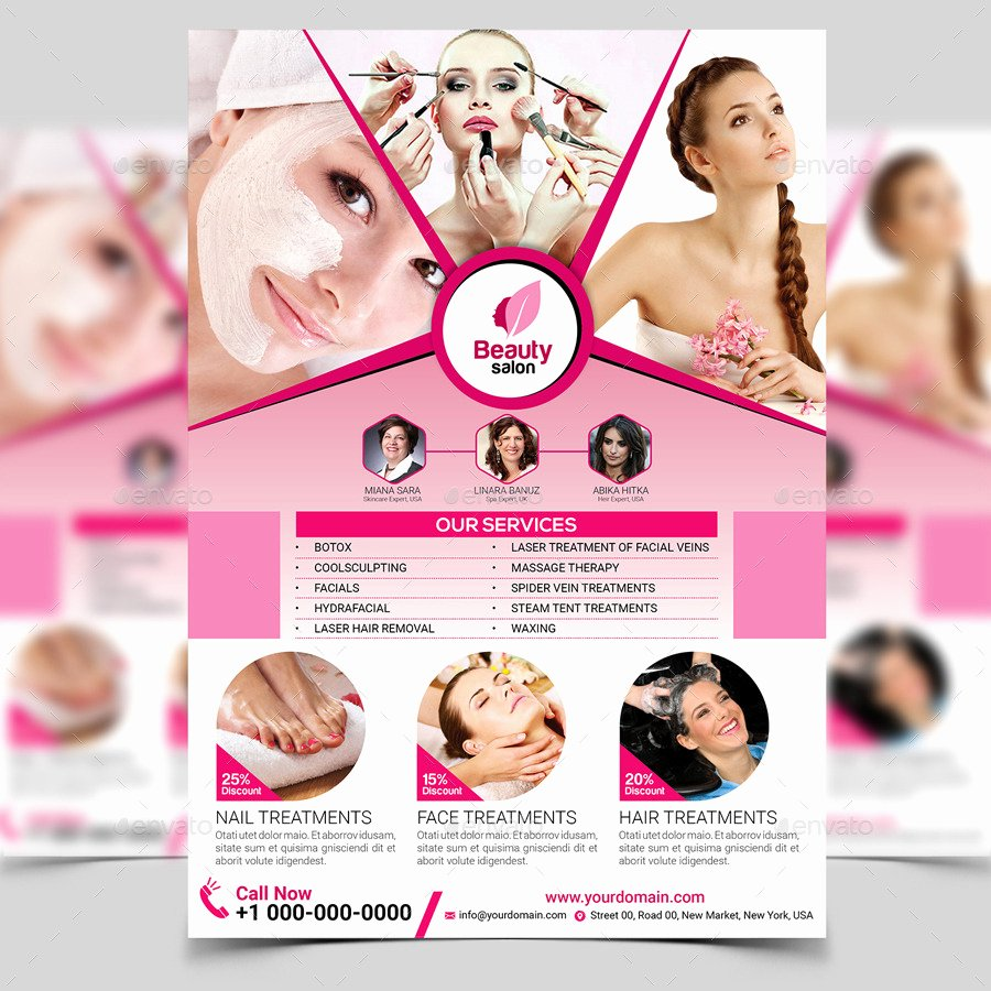 Beauty Salon Flyer Template by Aam360