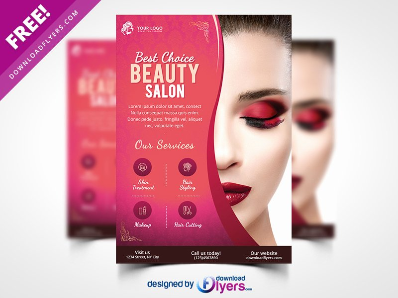 Beauty Salon Flyer Template Free Psd by Flyer Psd Dribbble