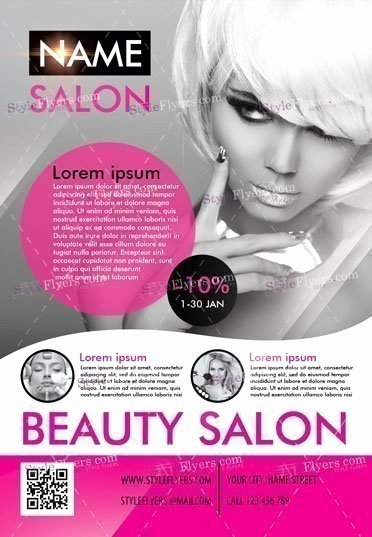 Beauty Salon Psd Flyer Template Styleflyers